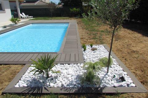 amenagement piscine avec galets