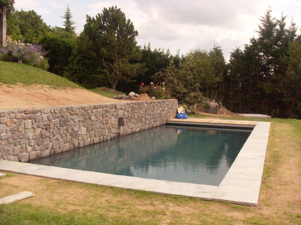 amenagement piscine avec muret