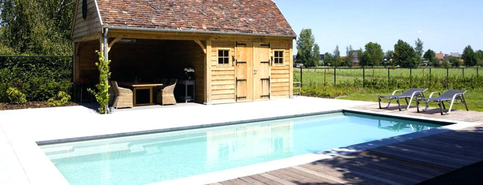 Amenagement piscine avec pool house - Abri de jardin piscine brest ...