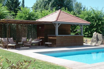 Amenagement piscine avec pool house - Photos pool house piscine ...