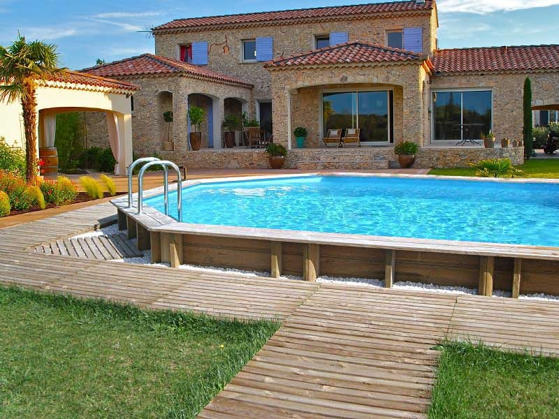 Amenagement piscine bois enterree - Amenagement autour piscine photos ...
