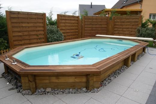 Amenagement piscine bois enterree - Hivernage piscine bois semi enterree ...