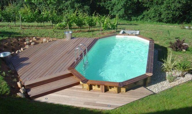amenagement piscine bois semi enterree