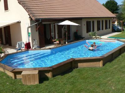 Amenagement piscine bois semi enterree - Hivernage piscine bois semi enterree ...
