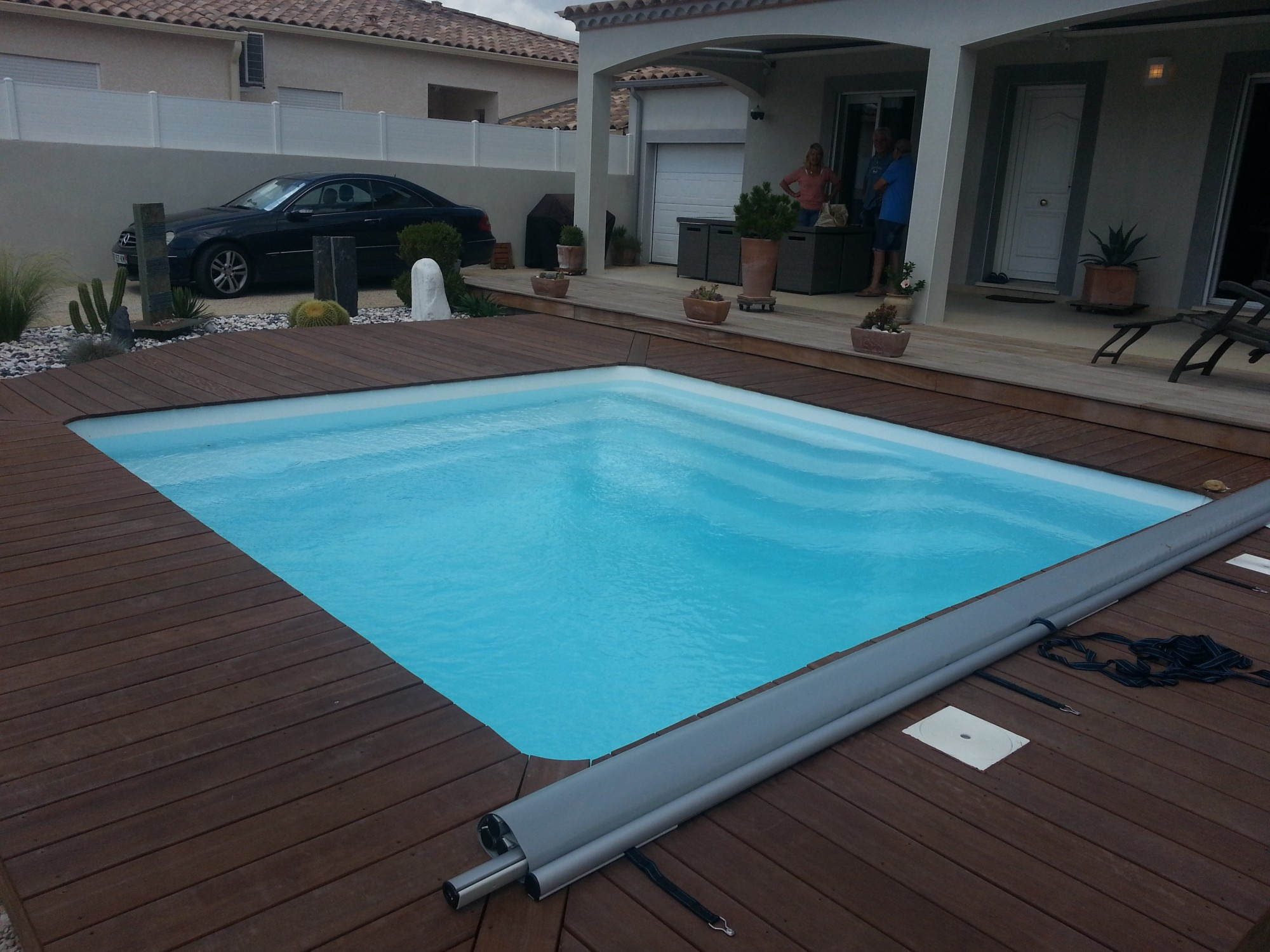 amenagement piscine carre