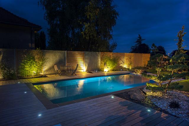 Amenagement piscine eclairage - Amenagement bord de piscine ...