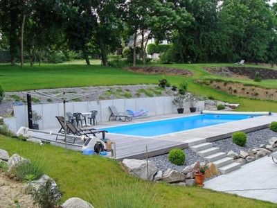 amenagement piscine en pente