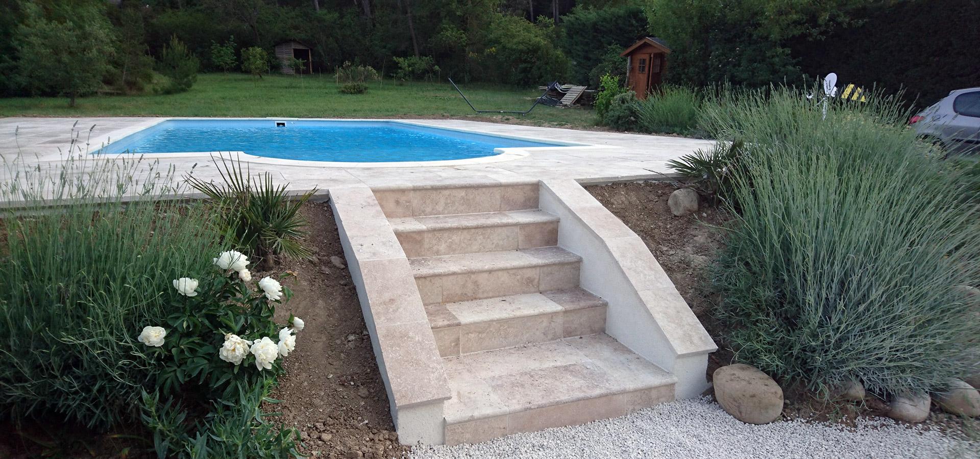 Amenagement piscine escalier - Amenagement terrasse piscine ...