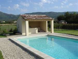 amenagement piscine et pool house