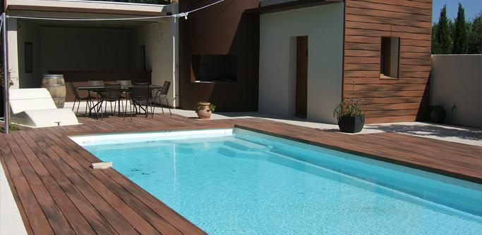 Amenagement piscine exterieur bois - Amenagement terrasse piscine ...