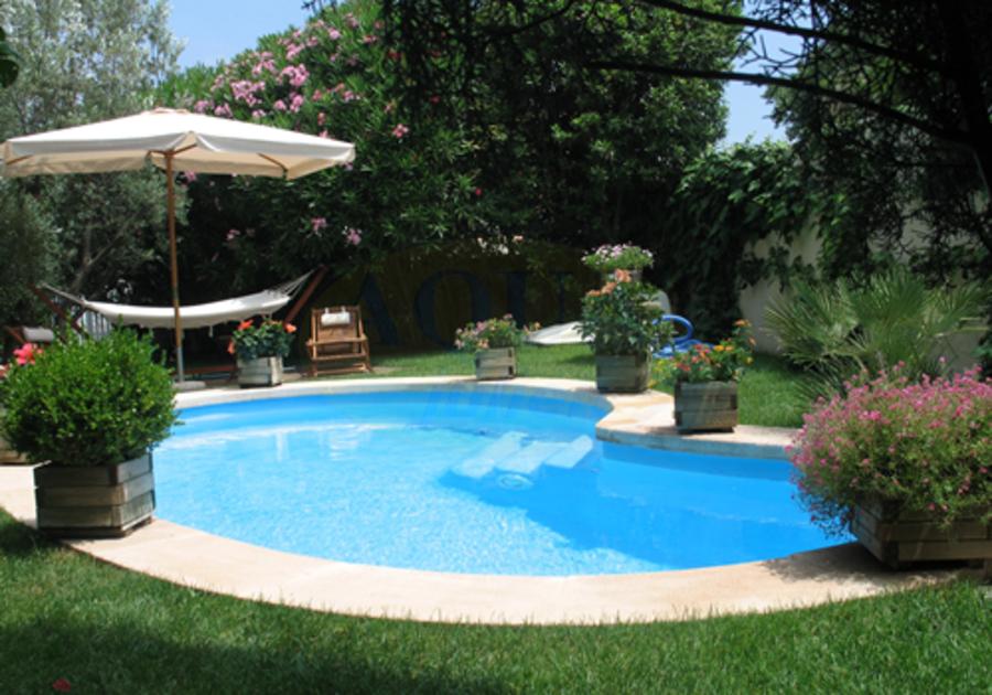 amenagement piscine forme haricot