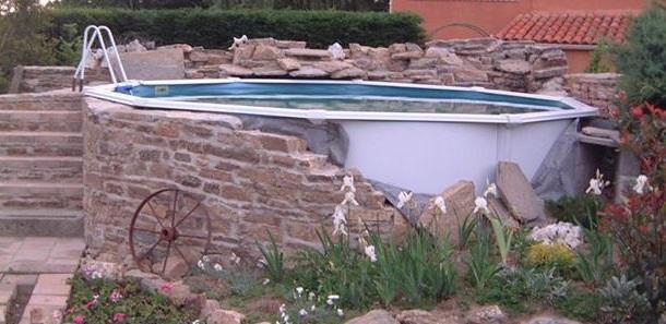 amenagement piscine hors sol acier