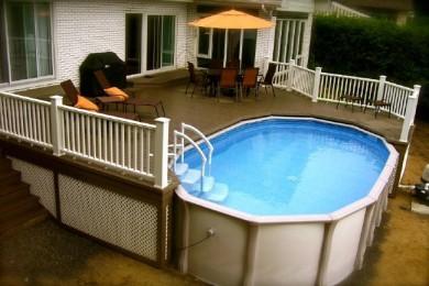 amenagement piscine hors sol metal