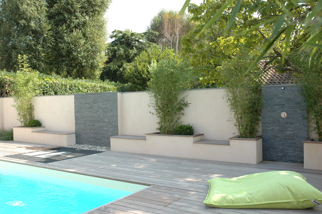 amenagement piscine mur
