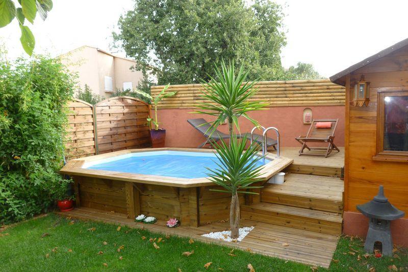 Amenagement piscine octogonale - Amenagement piscine semi enterree ...