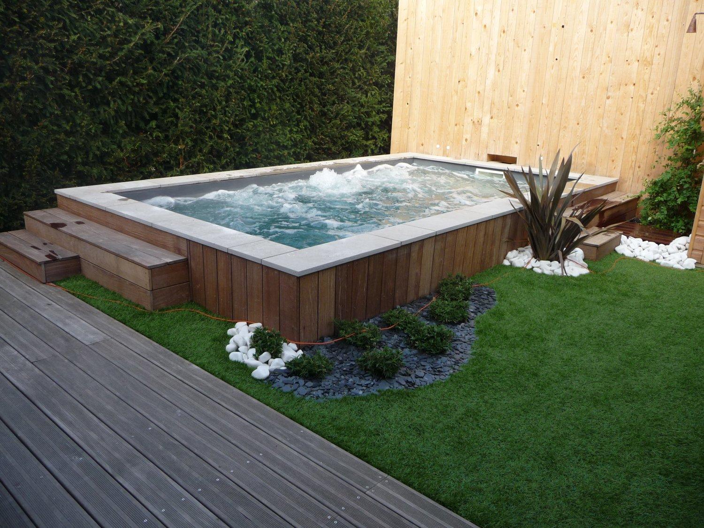 amenagement piscine petit jardin