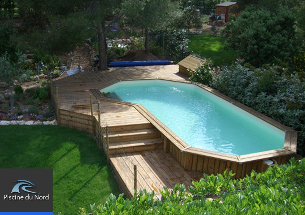 Amenagement piscine ronde hors sol - Amenagement autour piscine bois hors sol ...