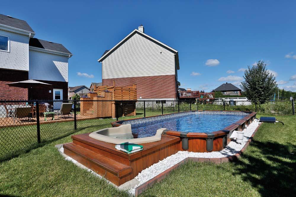 Amenagement piscine semi creusee - Amenagement piscine semi enterree ...