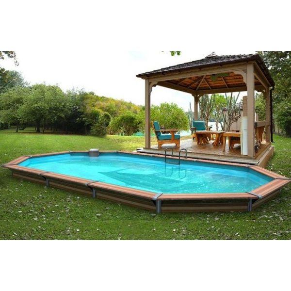amenagement piscine semi enterree bois