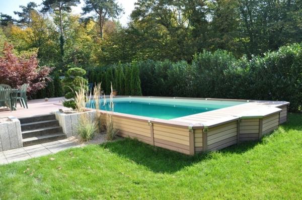 Amenagement piscine semi enterree bois - Amenagement piscine semi enterree ...