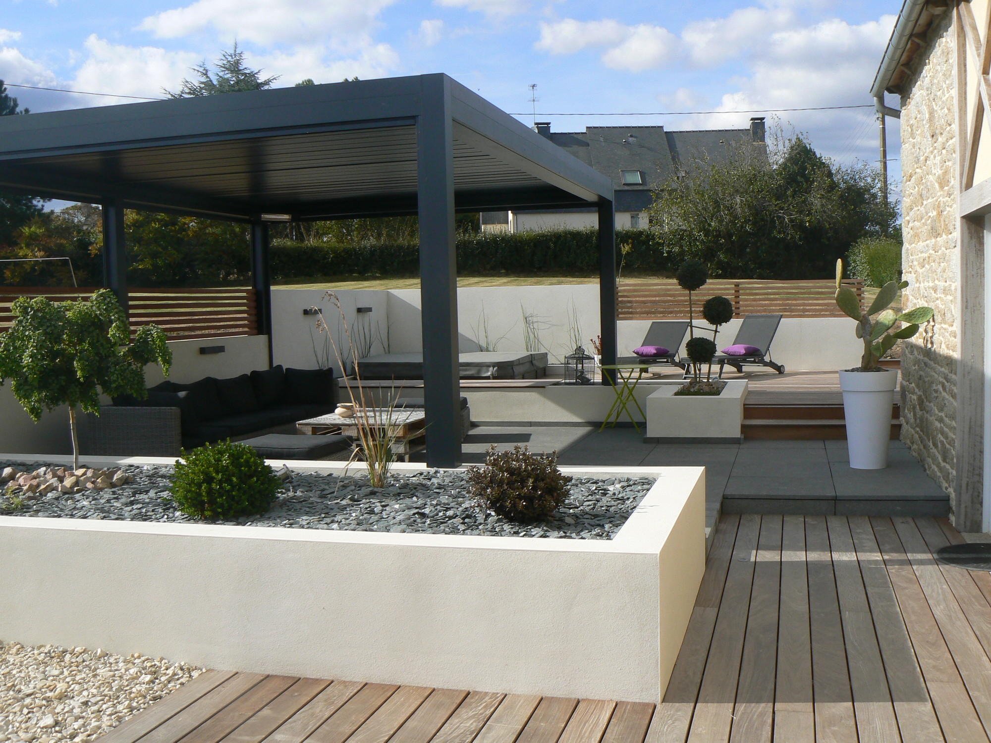 Amenagement piscine spa - Amenagement terrasse piscine ...