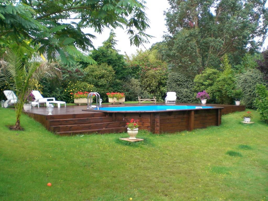 amenagement piscine terrain en pente