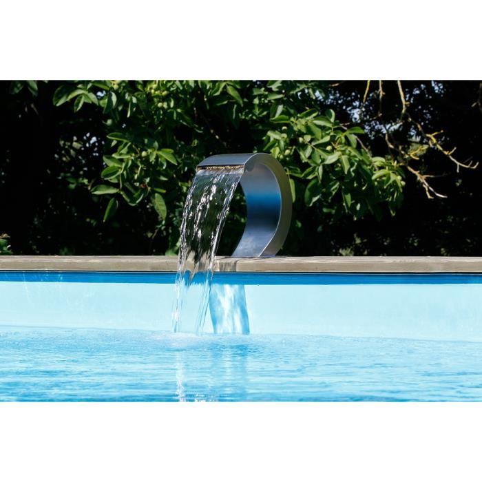 cascade piscine a led