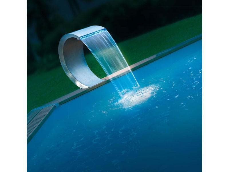 Cascade piscine inox led - Cascade d eau piscine ...