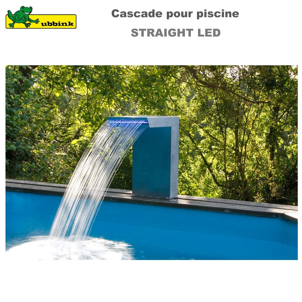 cascade piscine inox