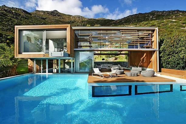 cascade piscine maison