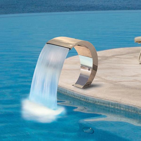 Cascade piscine moderne - Cascade d eau piscine ...