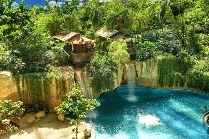 cascade piscine naturelle