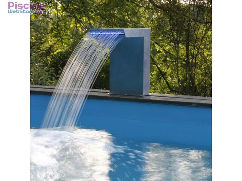 cascade piscine tubulaire