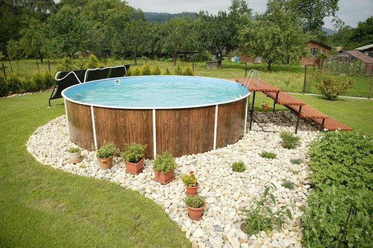 Deco piscine exterieure hors sol - Amenagement exterieur piscine hors sol ...