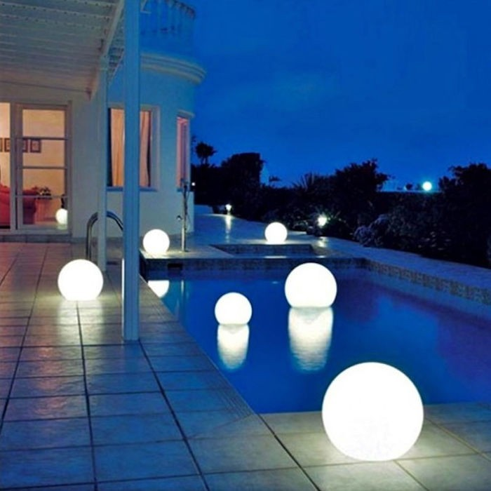 deco piscine lumiere