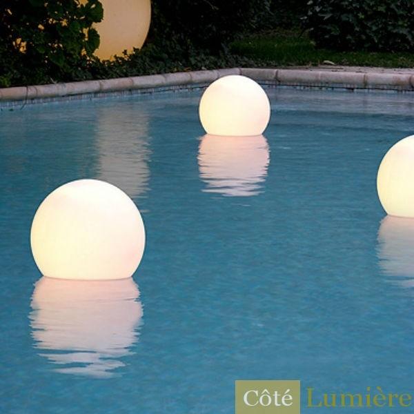 deco piscine lumiere