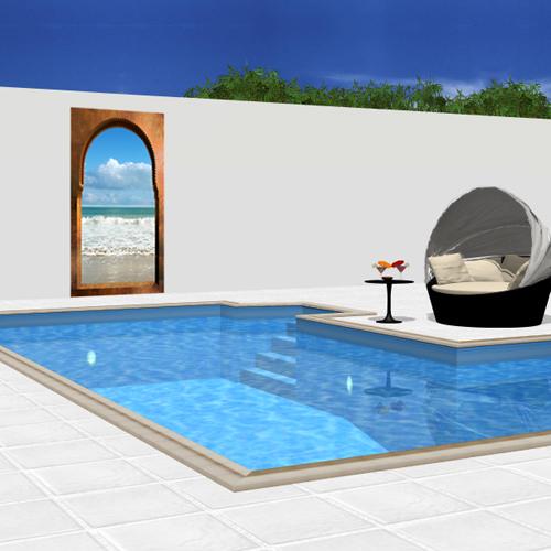deco piscine maroc