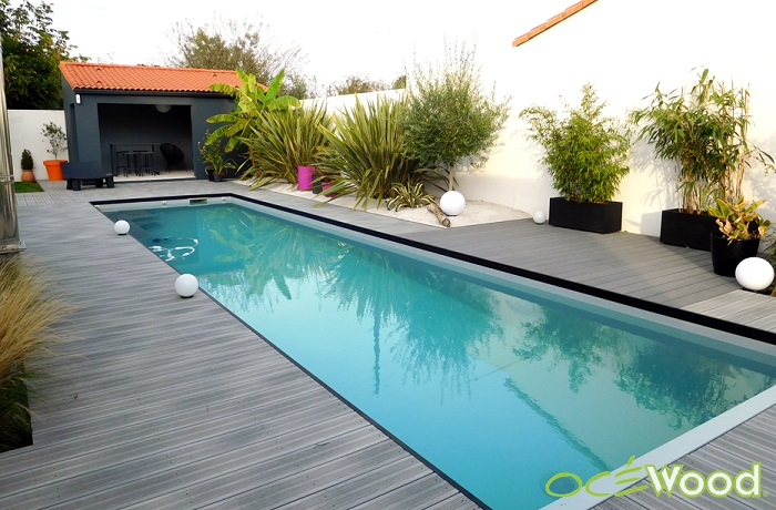 Deco piscine moderne - Terrasse autour piscine ...