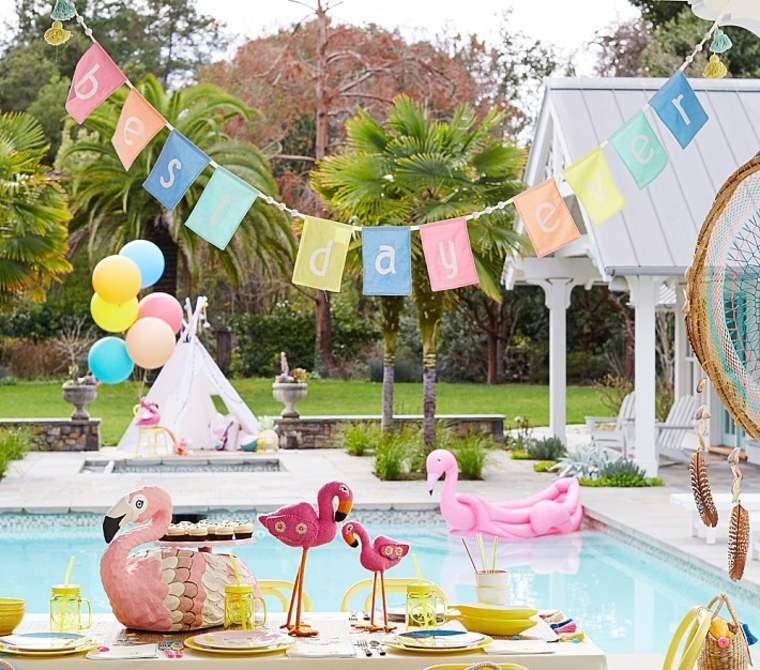 deco piscine pour anniversaire