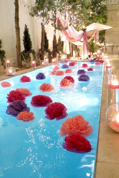 deco piscine pour mariage
