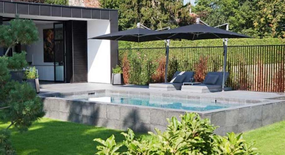 Deco piscine semi enterree - Piscine rectangulaire semi enterree ...