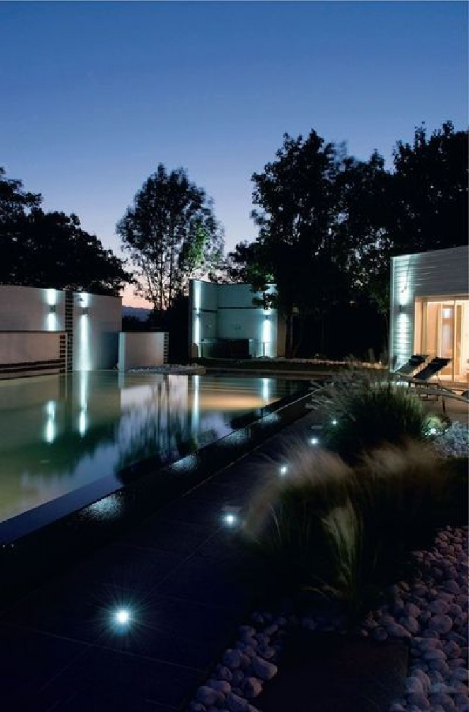eclairage piscine design