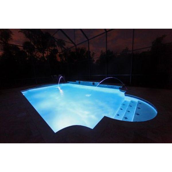 eclairage piscine en fibre optique