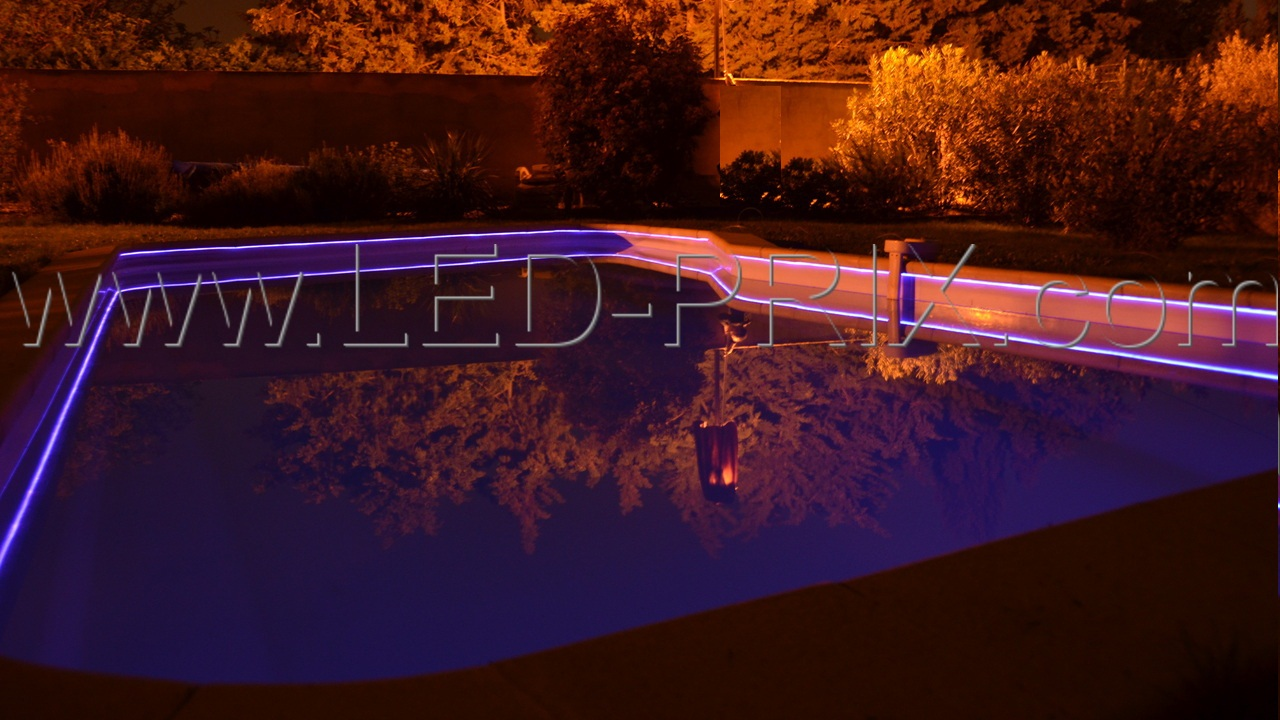 eclairage piscine fibre optique
