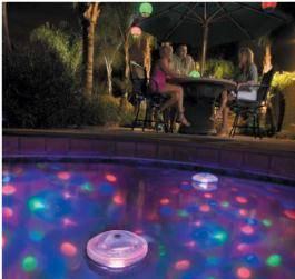 Eclairage piscine flottant for Underwater luminaire for swimming pool