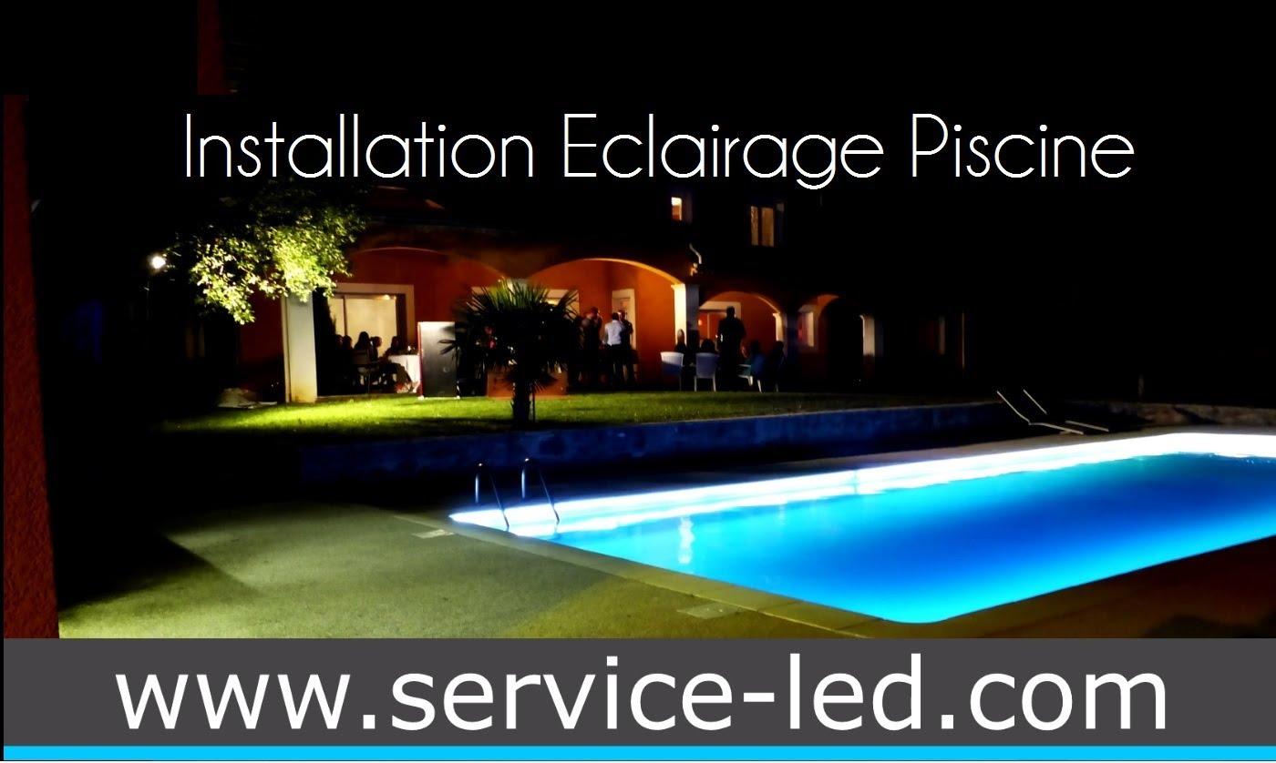 eclairage piscine installation