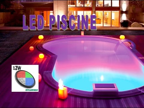 eclairage piscine led multicolor