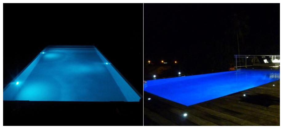 eclairage piscine liner