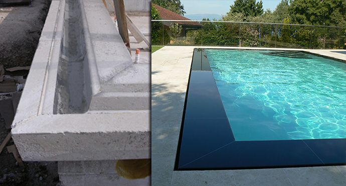 eclairage piscine miroir. Black Bedroom Furniture Sets. Home Design Ideas
