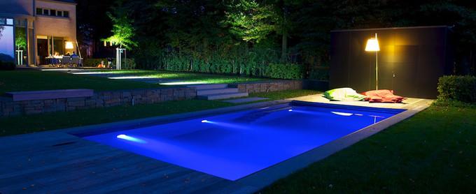 eclairage piscine plage